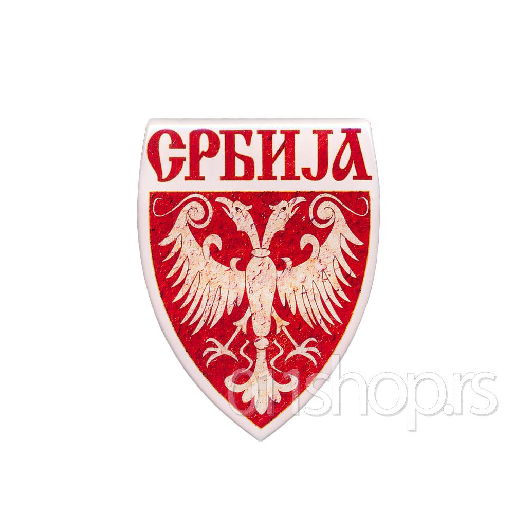 3D stiker - grb Nemanjića u štitu