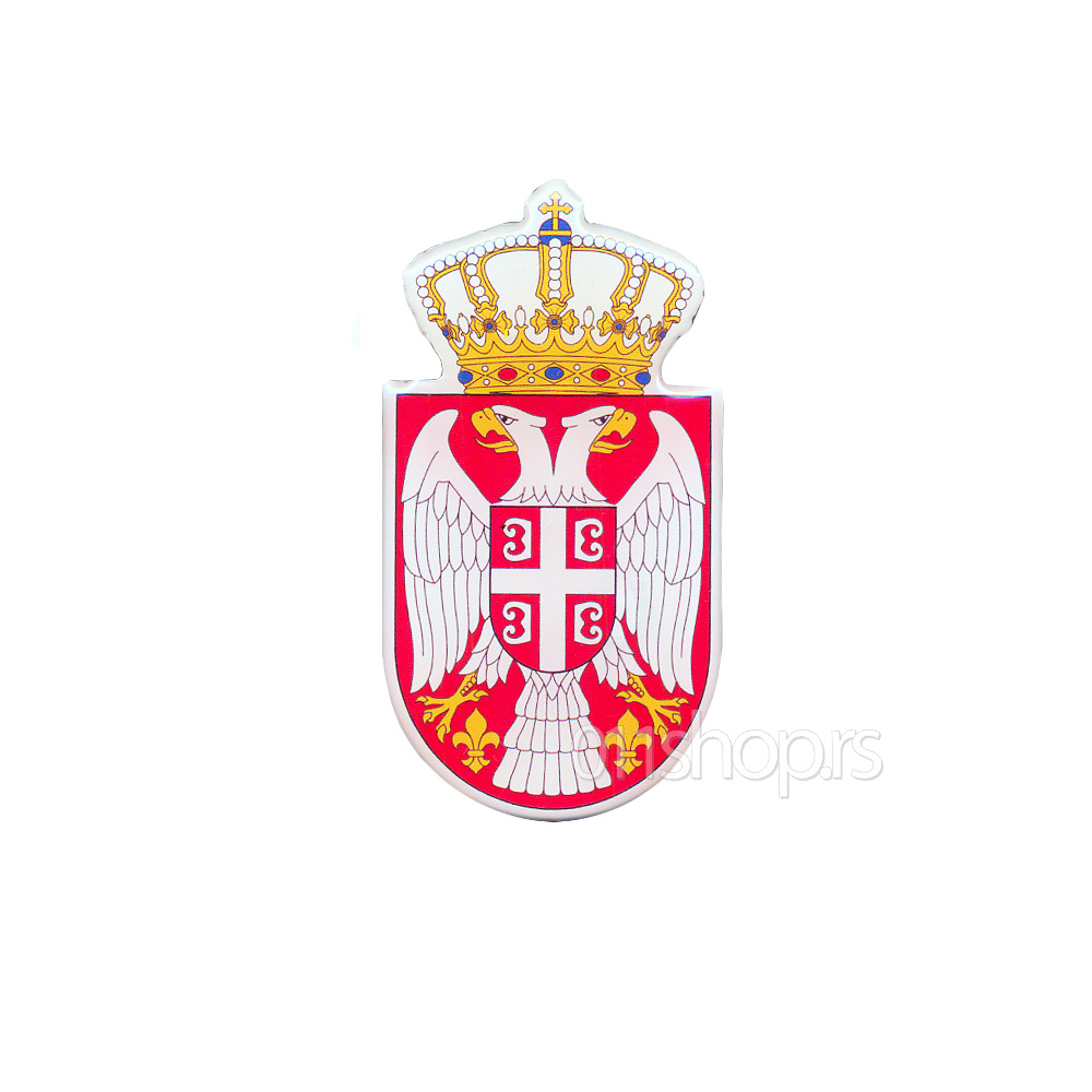 3D stiker - grb Srbije