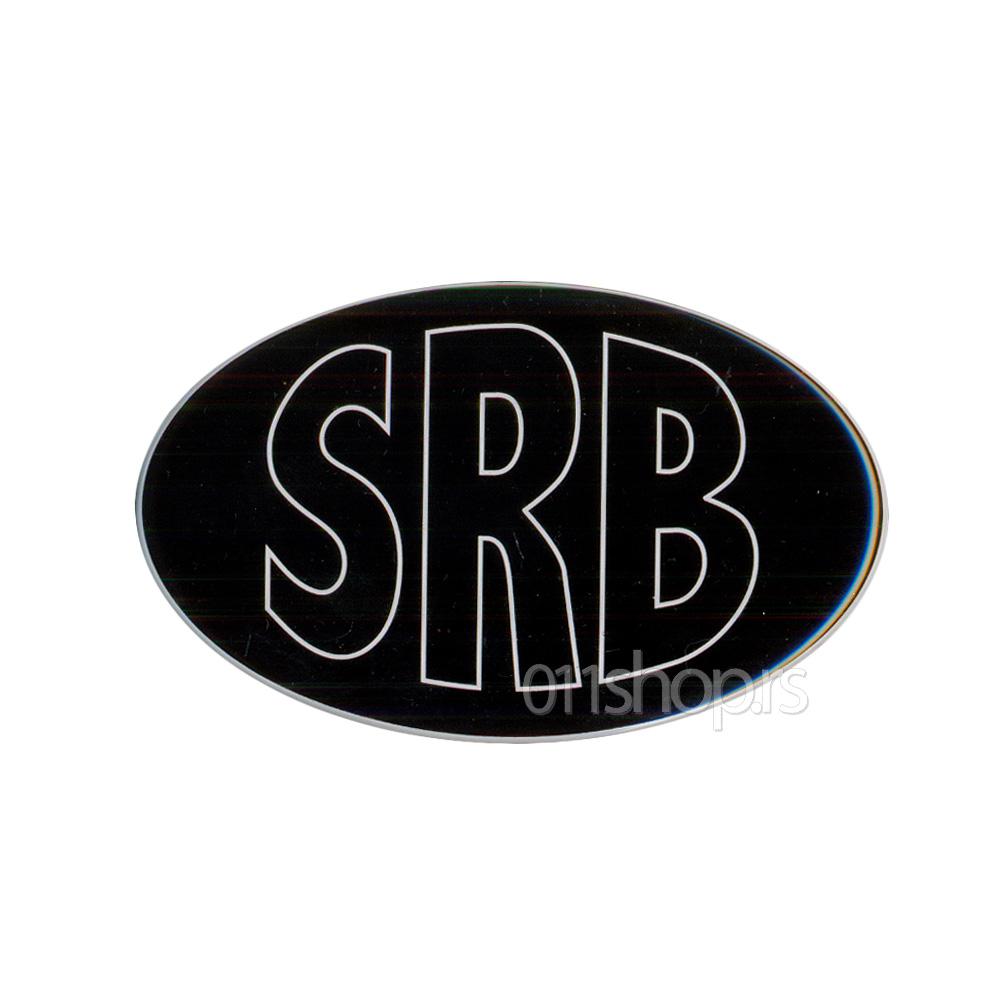 3D stiker - SRB (crni)