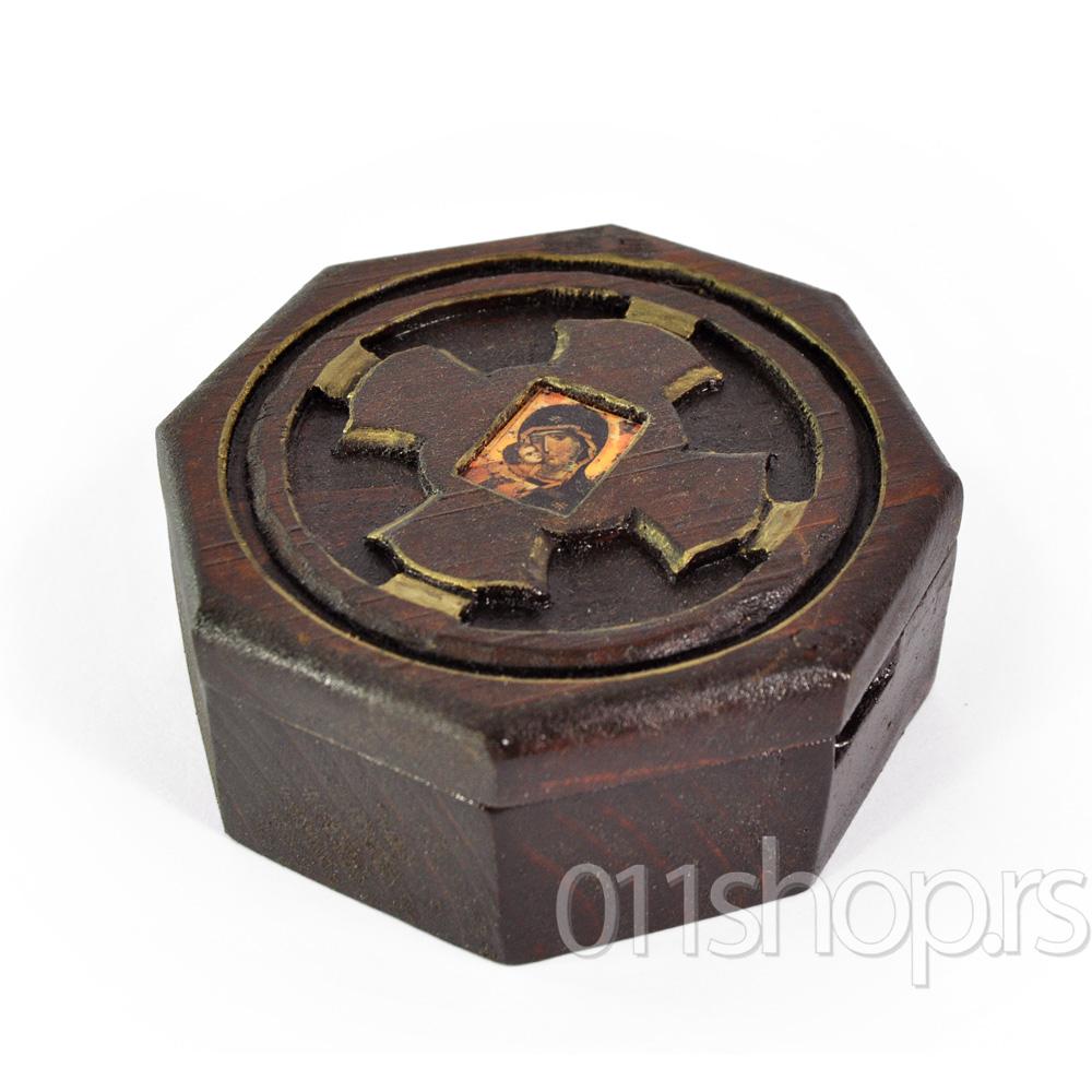 Kutija za tamjan sa ikonom (osmougaona)
