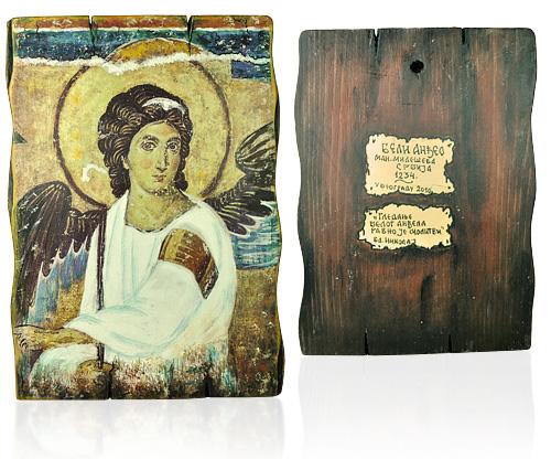 Ikona Beli Anđeo (rustika A5)