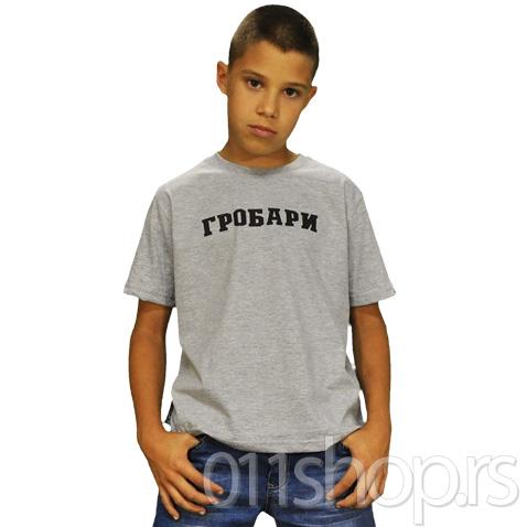 Dečija majica  Grobari (siva)