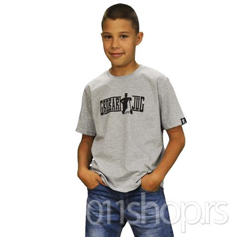 Dečija majica  Grobari jug (siva)