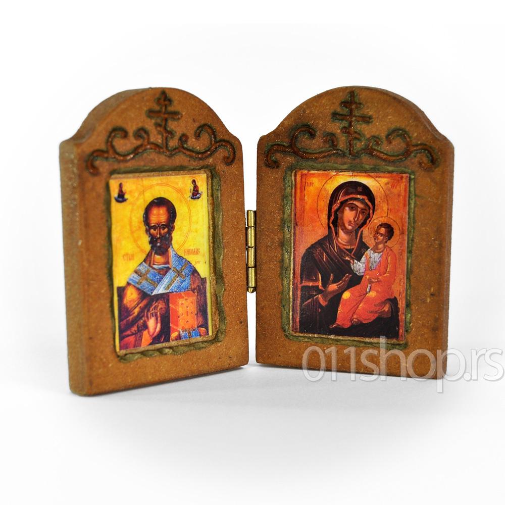 Diptih Bogorodica + svetac po izboru