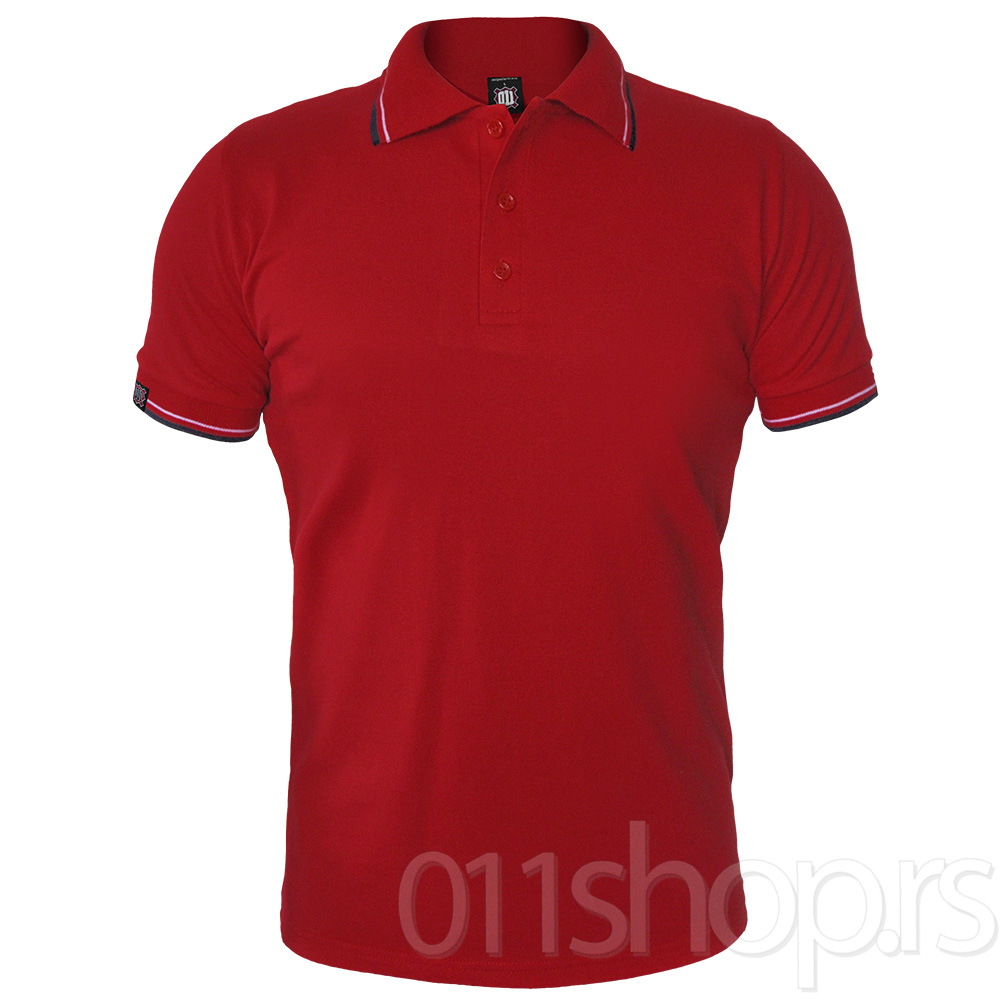 Polo majica 011 Trobojka (Crvena)