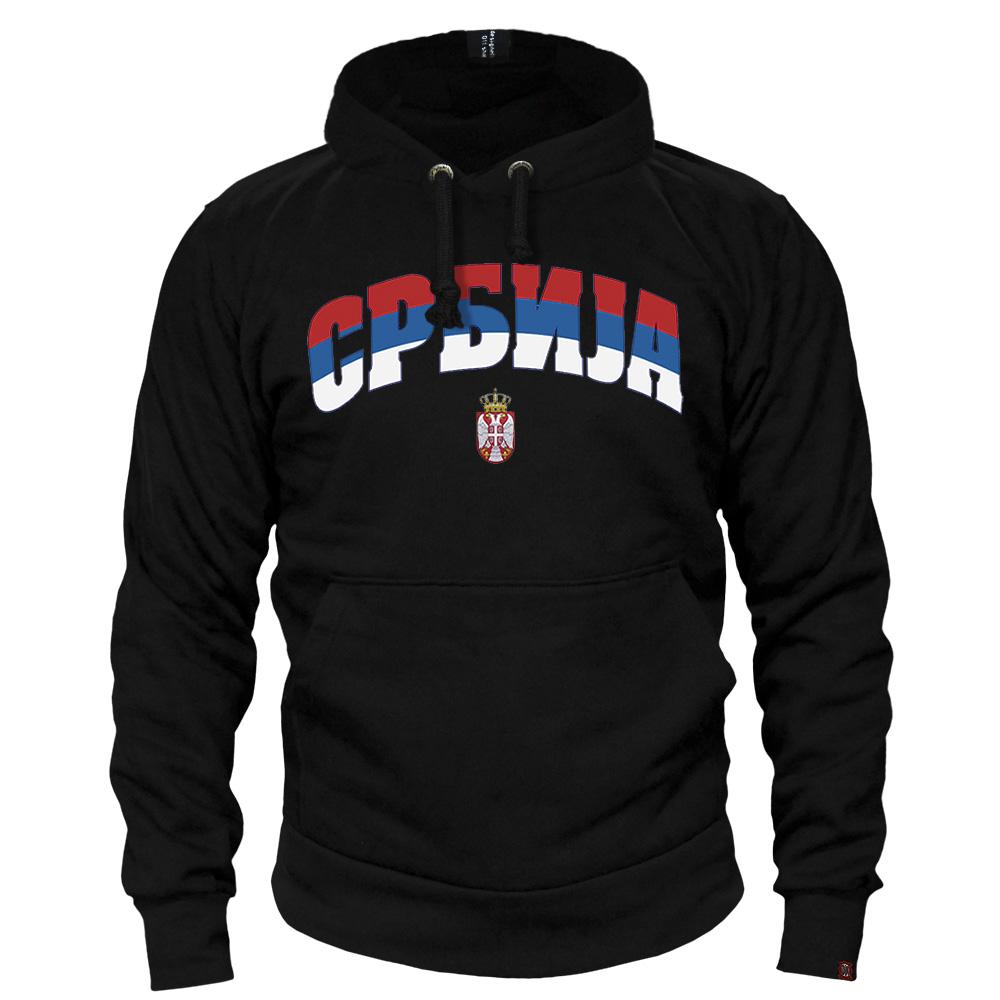 Sweat shirts Serbia - mod.a tricolor cirylic