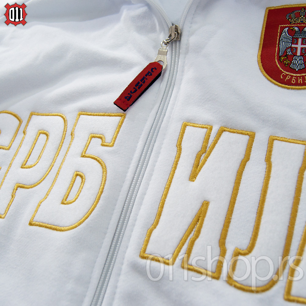 Sweat Jacket with embroidery (white)