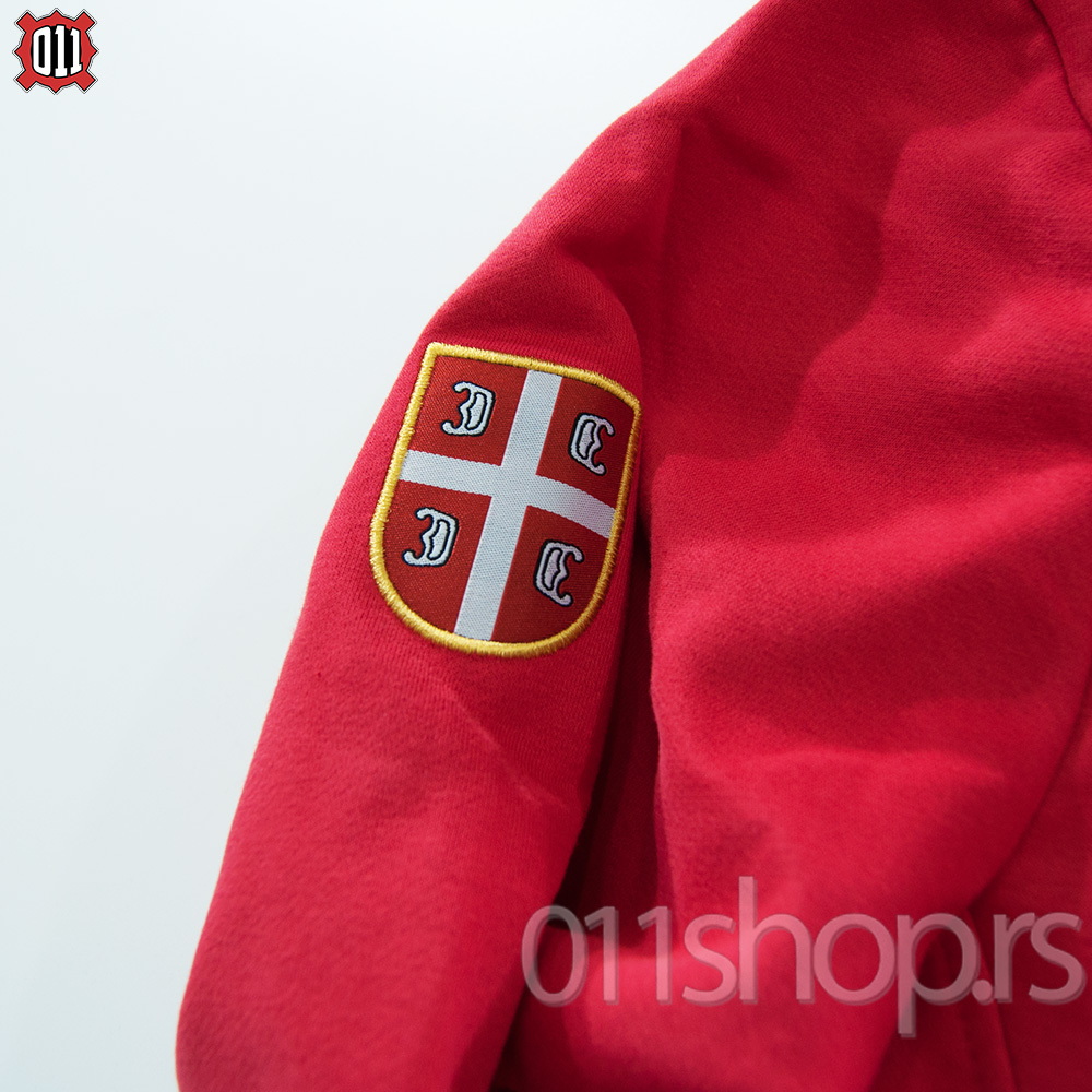 Sweat Jacket with embroidery (red)