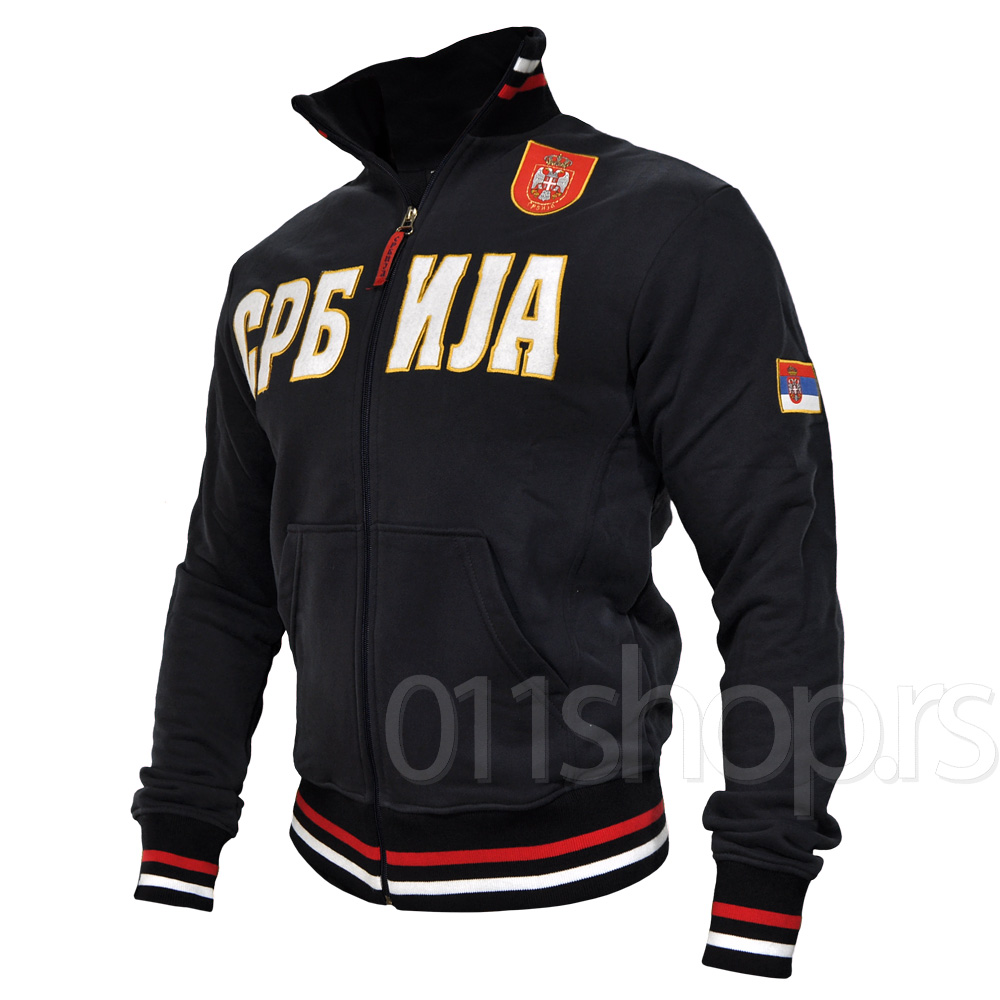 Sweat Jacket with embroidery (navy blue)
