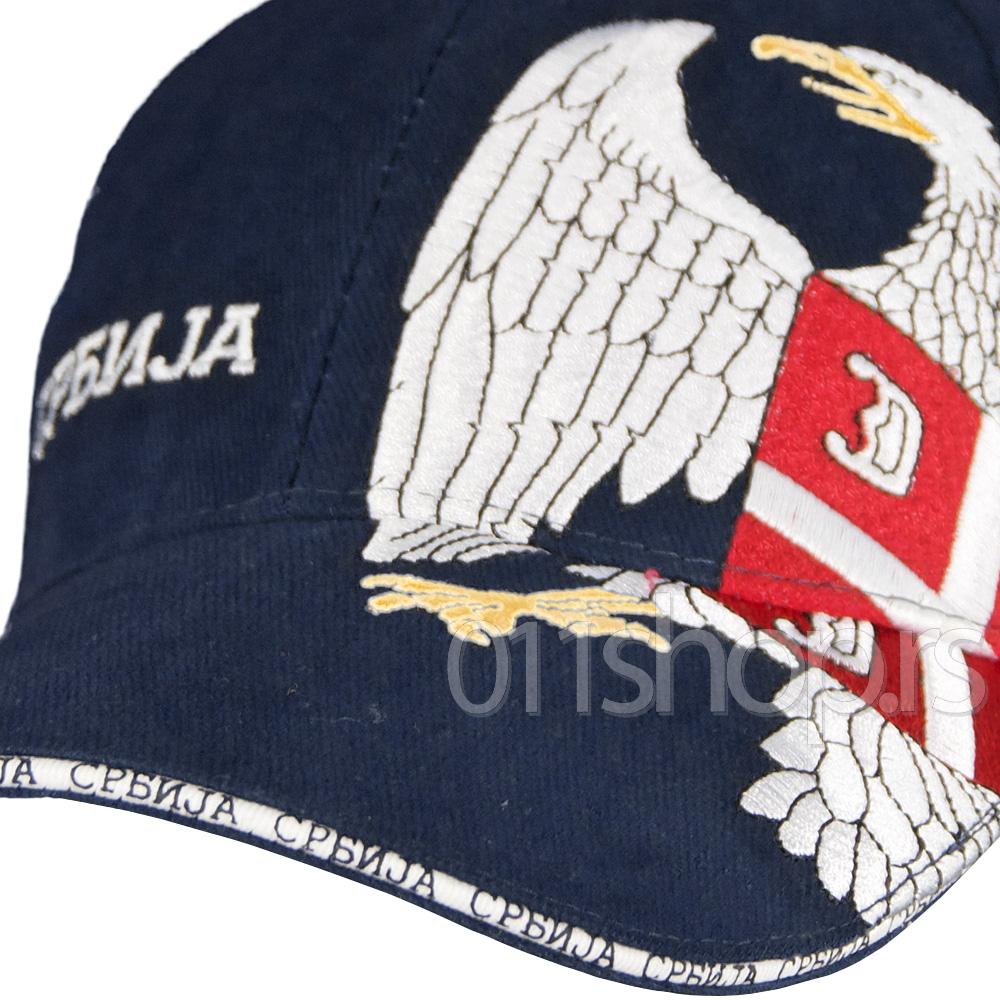 Kačket Srbija - Grb (teget)