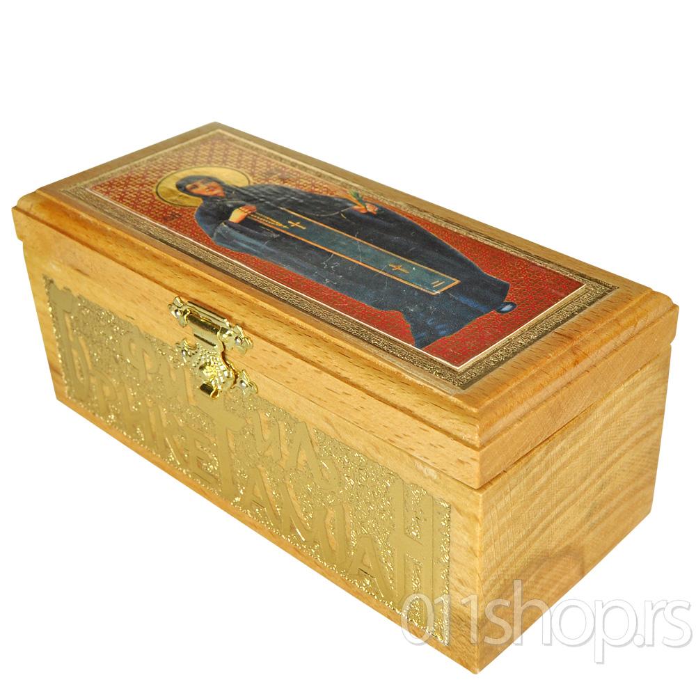 Kutija za tamjan, briket i fitilj (sa ikonicom)