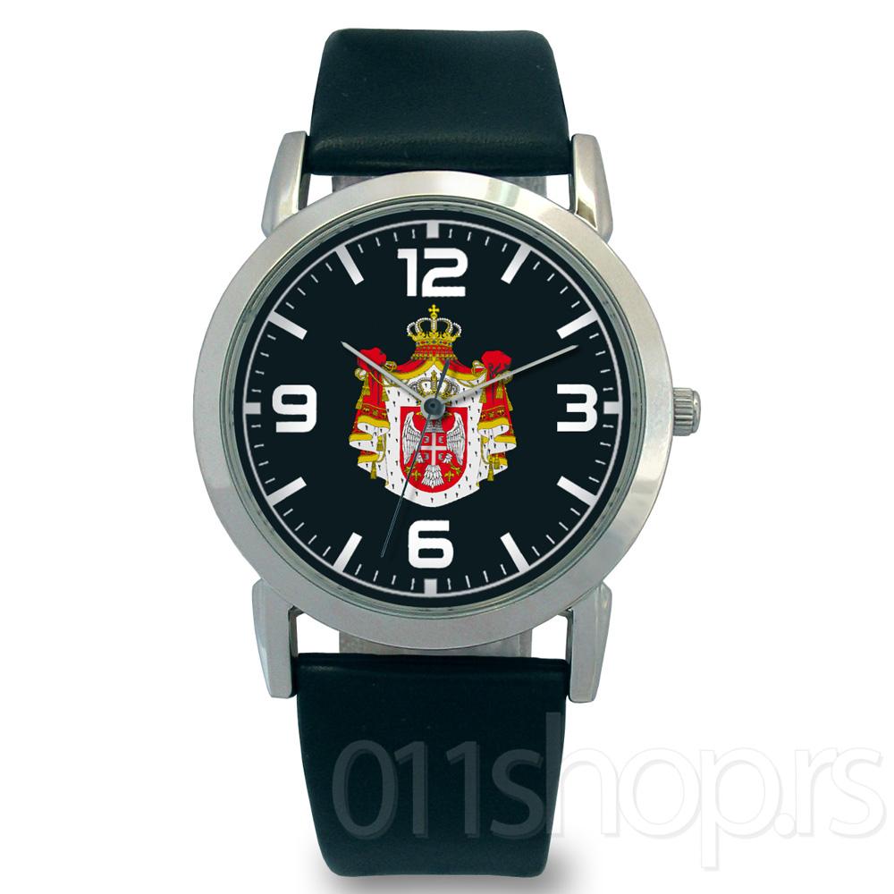 Rucni sat Grb Srbije - Crni 2