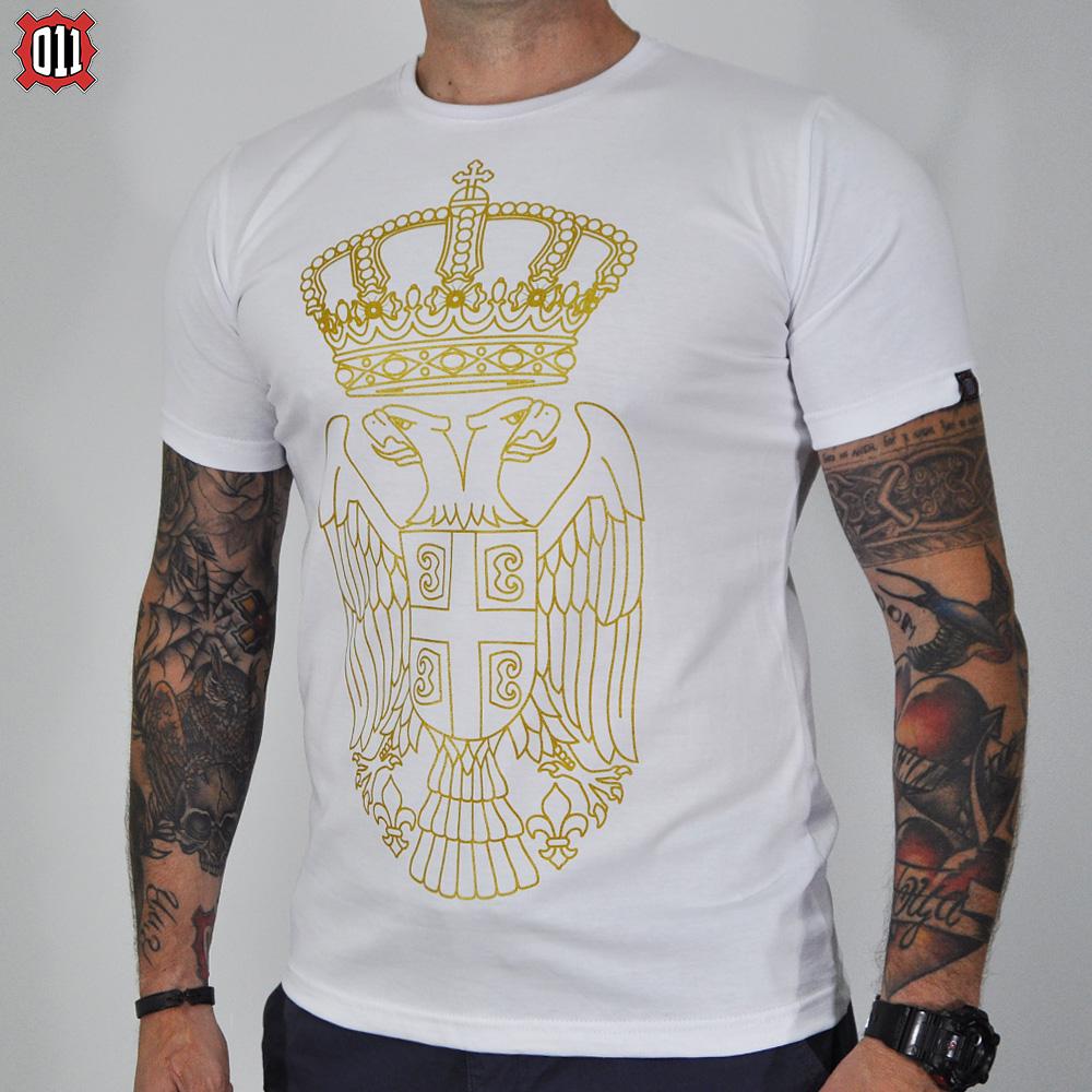 Majica grb Srbije (bela)