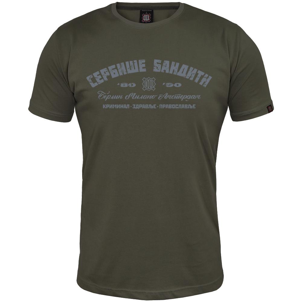 Majica Serbiše Banditn - Kriminal, zdravlje, pravoslavlje