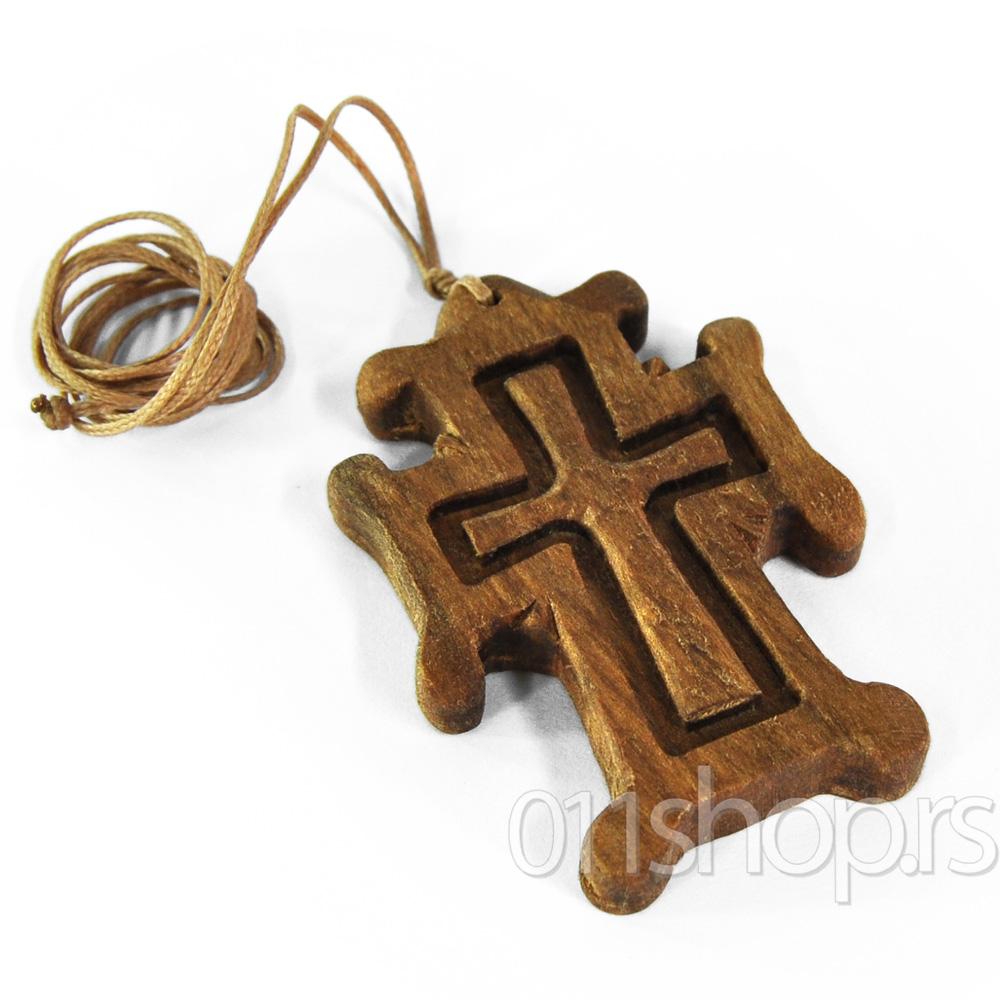 Ogrlice sa drvenim krstom (rucni rad) 4