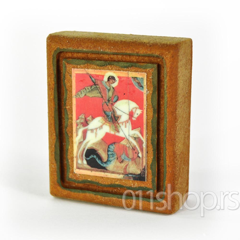 Ikona mini rustika - sv. Georgije