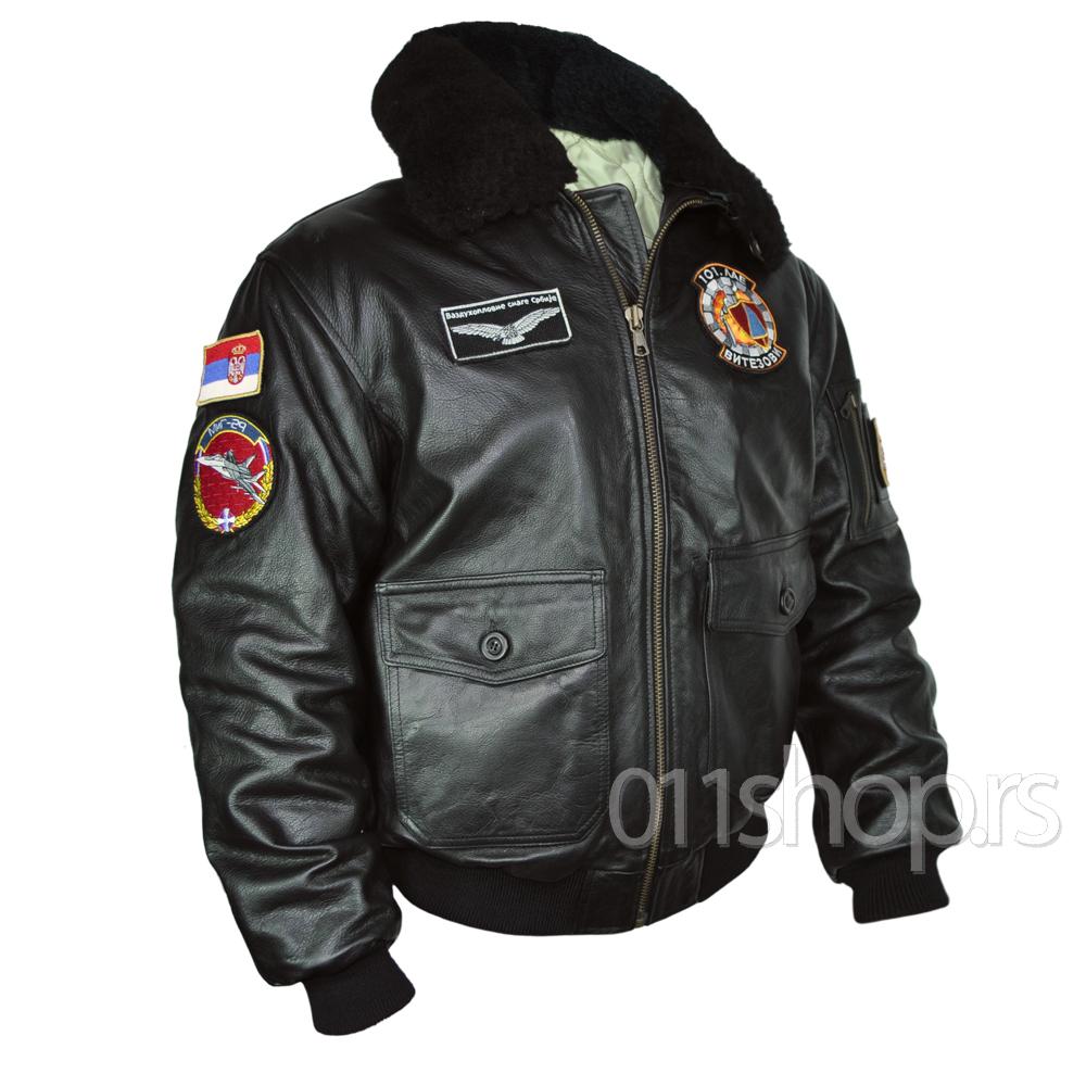 Pilotska jakna  - Eskadrila (kožna-crna)