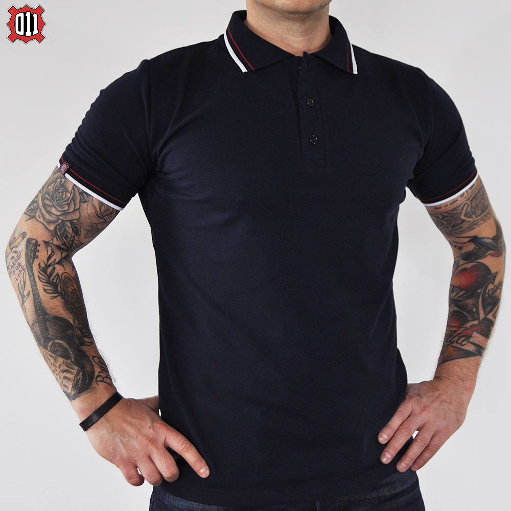 Polo T-Shirt 011 Tricolor (Navy Blue)