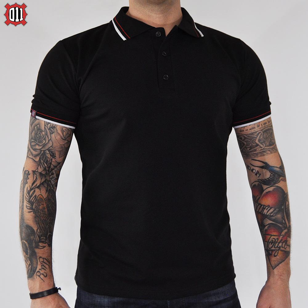 Polo majica 011 Trobojka (Crna)