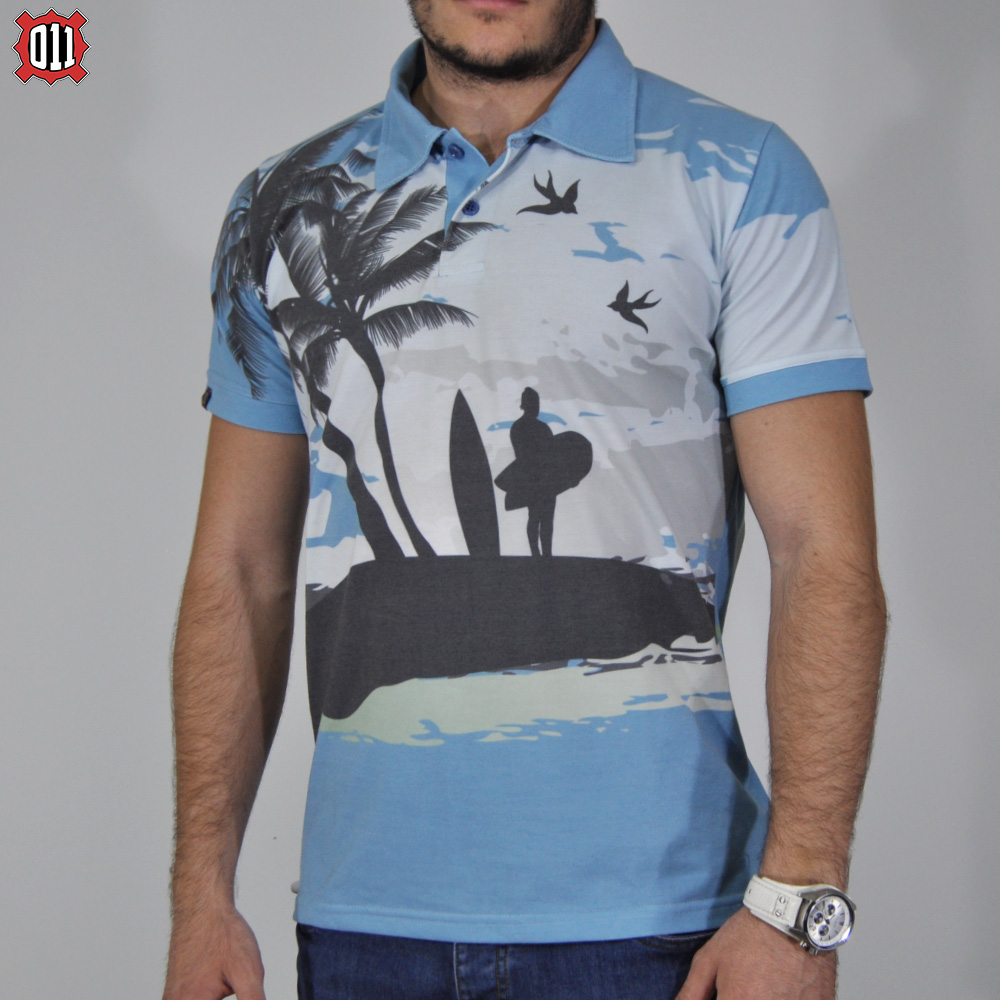 Polo majica Blue Surf (Akcija!)