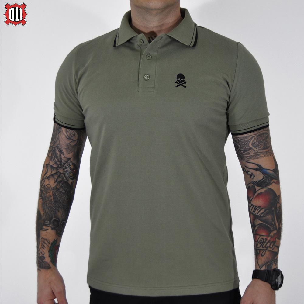 Polo majica Lobanja (štraftice)