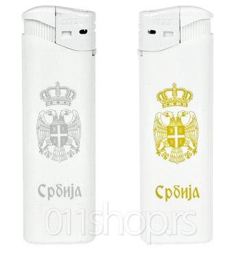 Upaljač Srbija 1 - beli