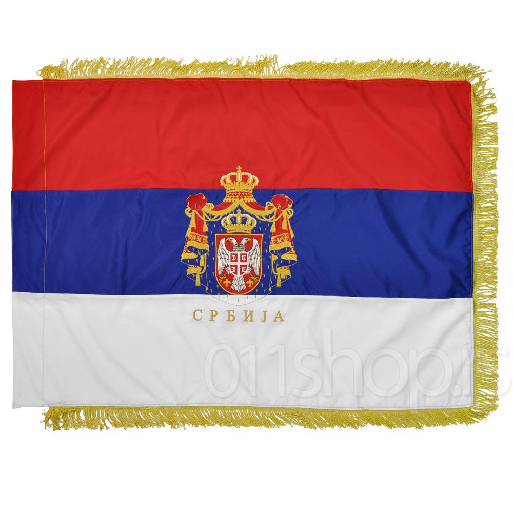 Zastava vezena - plašt (200cmx100cm)