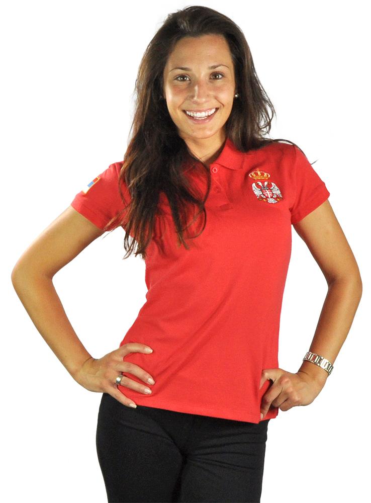 Ženska polo majica - crvena