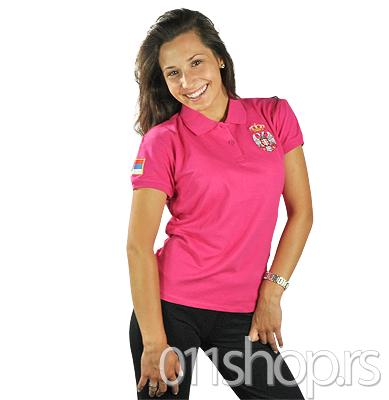 Ženska polo majica - ciklama