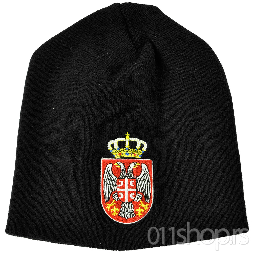 Zimska kapa Srbija - crna