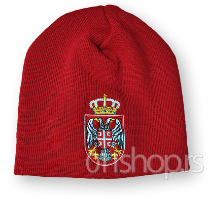 Zimska kapa Srbija - crvena