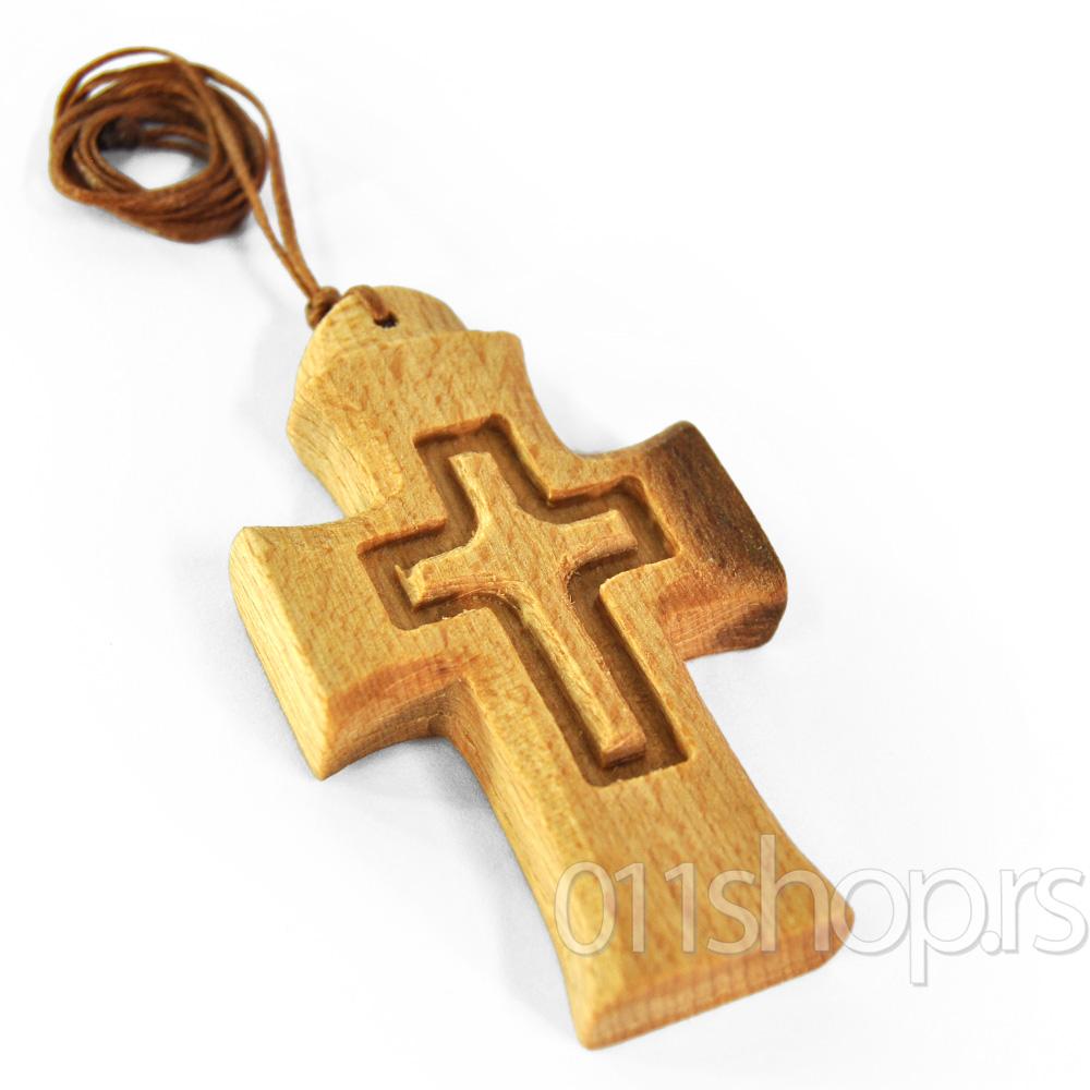 Ogrlice sa drvenim krstom (rucni rad) 3
